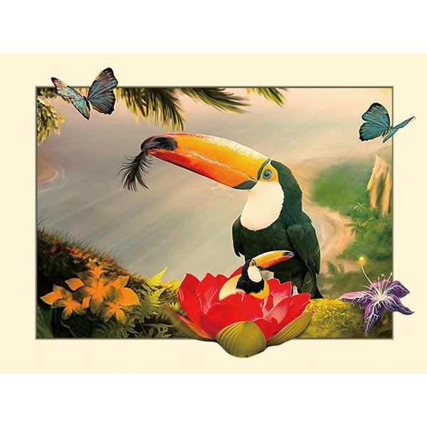5d Full Diamond Painting Kits Hot Sale Best Cartoon Style Bird   QB5827