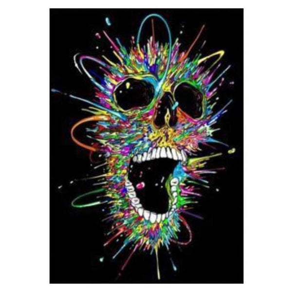 2019 5d diy Diamond Painting Kits Colorful Skull QB6027
