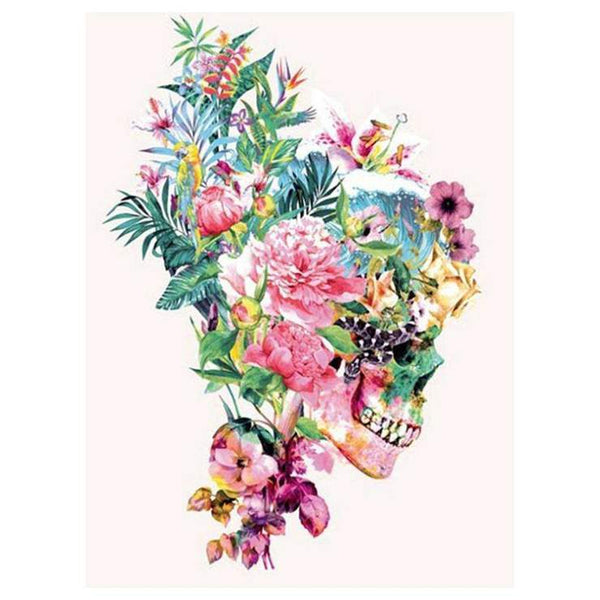 2019 5d Diy Diamond Painting Kits Skull And Fowers QB6035