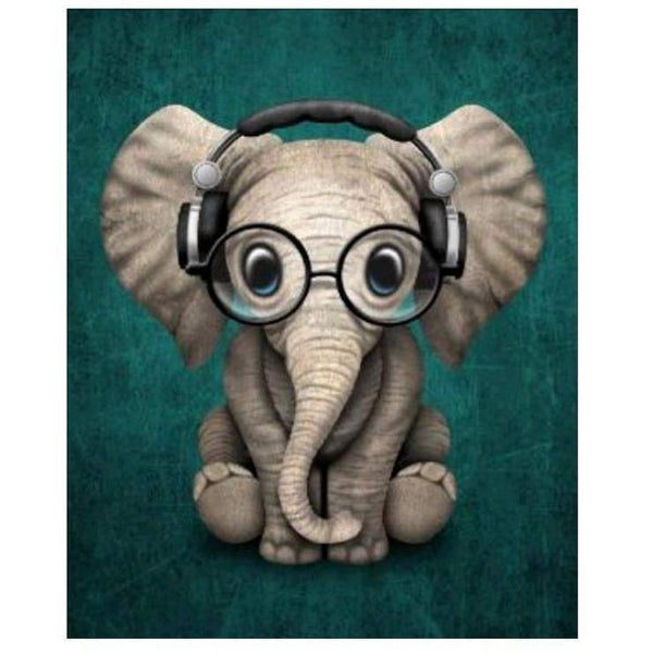 2019  5D DIY Diamond Painting Kits Cute Elephant QB5391