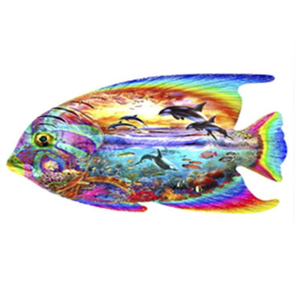 5d Full Diamond Painting Kits Animal Fish Picture Diy QB8031