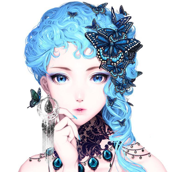 5d Full Diamond Painting Kits Dream Cartoon Girl  QB5941