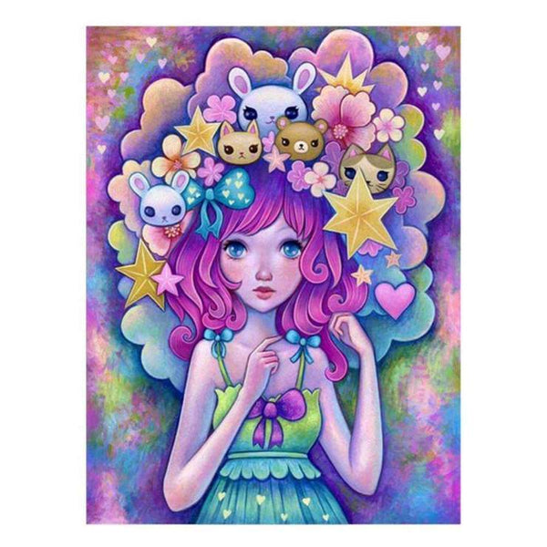 2019 5d Diy Diamond Painting Cartoon Girl With Toys QB5933
