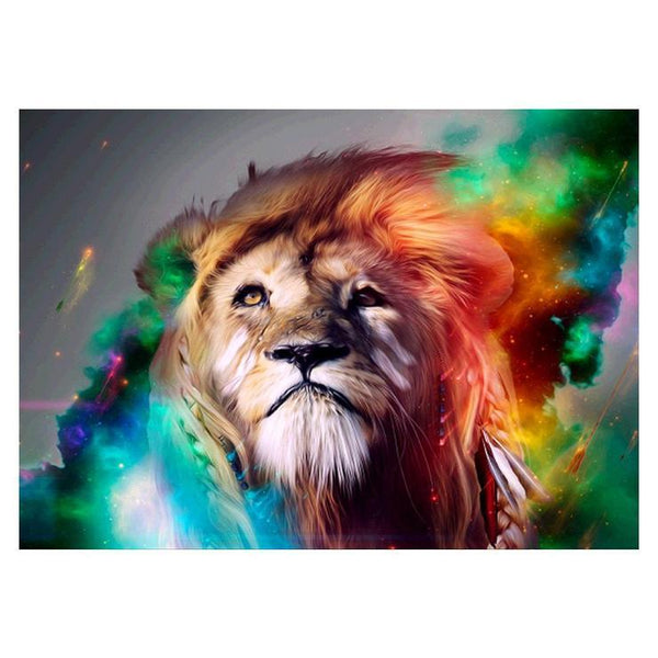 5d Full Diamond Painting Kits Best Dream Style Lion Pattern  QB5853