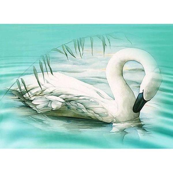 Dream Oil Painting Style Swan Pattern Diy 5d Full Diamond Painting Kits QB5836
