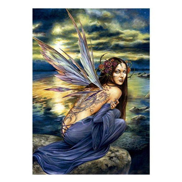 2019 5d DIY Full Diamond Painting Kits Fairy By The Sea QB5894
