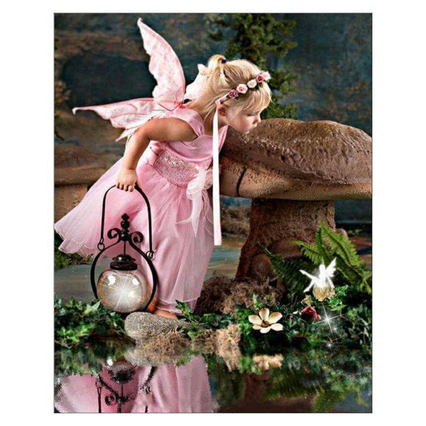 5d Diy Diamond Painting Kits Pink Fairy Portrait QB5897