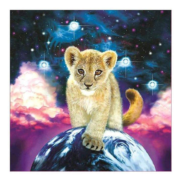 5d Full Diamond Painting Kits Best Fantasy Style Lion QB5874