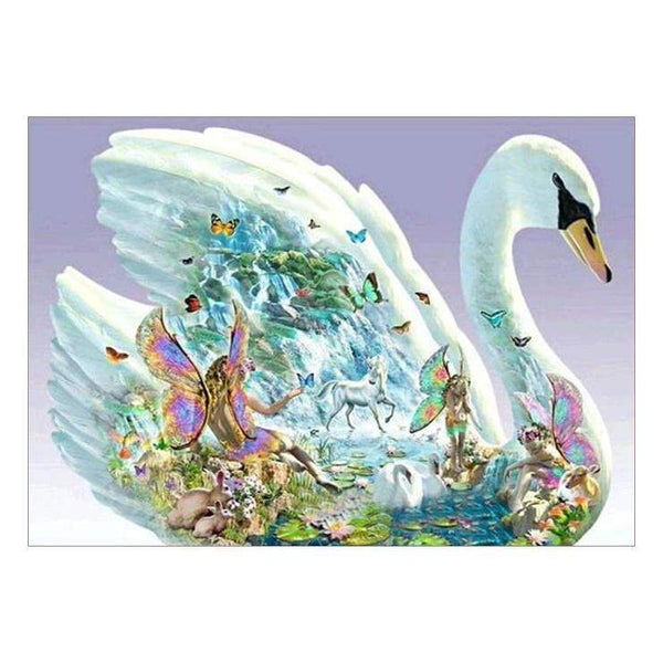 5d Full Diamond Painting Kits Fantasy Style Swan QB58540
