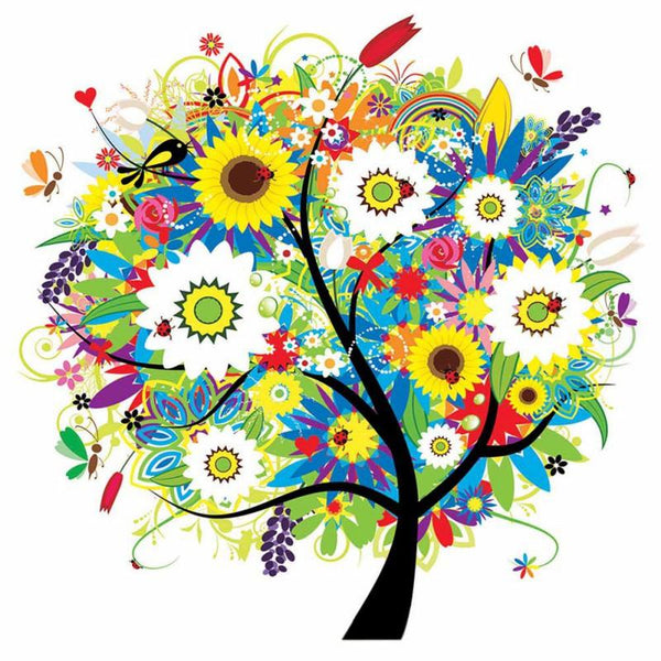 New Arrival Dream Colorful Cartoon Tree 5d Diy Diamond Painting Kids VM4001 (1767019872346)