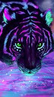 5d Diy Diamond Embroidery Cross Stitch Kits Colored Tiger VM69501 (1766956007514)