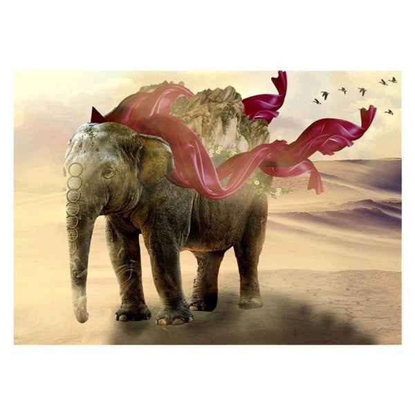 Home Decorate Modern Art Elephant Diy 5d Diamond Painting Kits QB5395