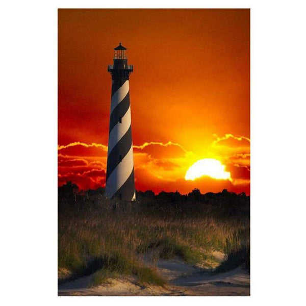 Cheap Modern Art Landscape Lighthouse Diy 5d Diamond Painting Kits QB5408