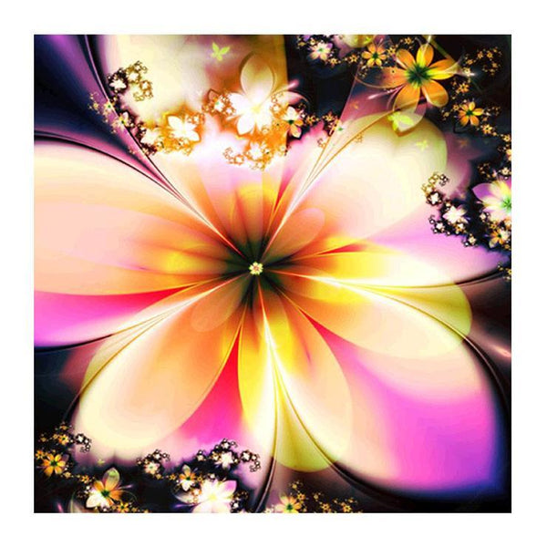 Cheap Modern Art Style Abstract Flower Diy 5d Full Diamond Painting Kits QB5755
