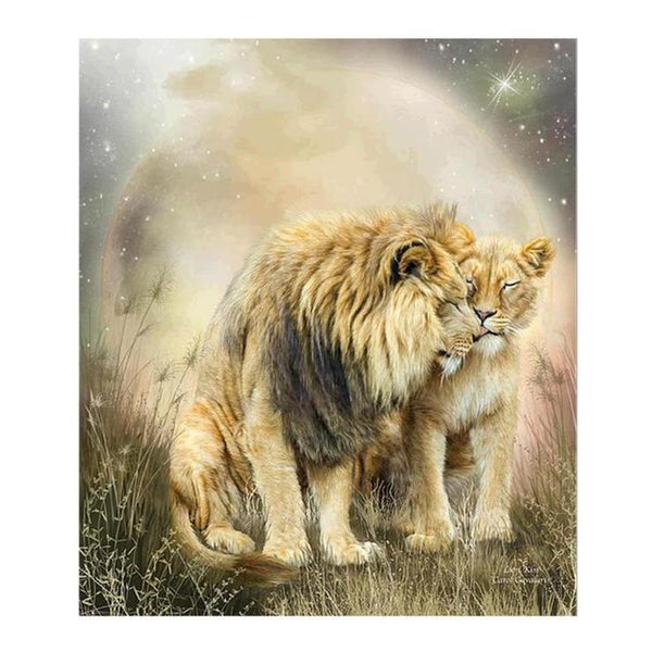 2019 5d Full Diamond Painting Kits Modern Art Style Lion Pattern Diy QB5879