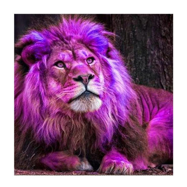 Modern Art Style Lion Pattern Diy 5d Full Diamond Painting Kits QB5880