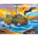 5d Diamond Painting Kits Oil Painting Style Landscape Lighthouse QB5402