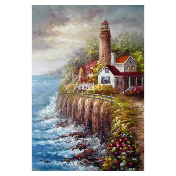 5d Diamond Painting Kits Oil Painting Style Landscape Lighthouse QB5403