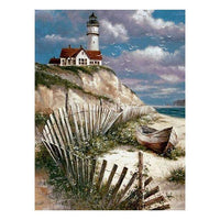 2019 5d Diamond Painting Kits Landscape Lighthouse QB5404