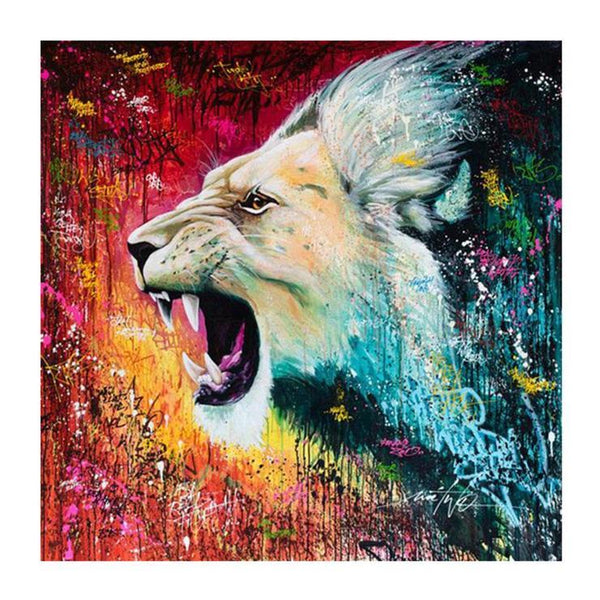Hot Sale Watercolor Lion Pattern Diy 5d Full Diamond Painting Kits QB5871