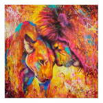 Cheap Oil Painting Style Lion Pattern Diy 5d Full Diamond Painting Kits QB5872