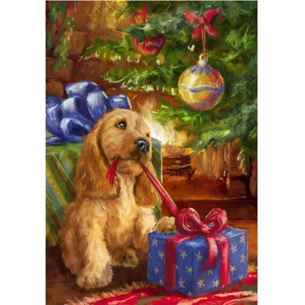 5d Full Diamond Painting Kits Best Oil Painting Style Pet Dog  QB5490