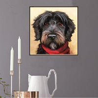 Cheap Oil Painting Style Pet Dog Diy 5d Full Diamond Painting Kits QB5492