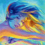 Colorful Oil Painting Style Portrait Pattern Diy 5d Full Diamond Painting Kits QB5881
