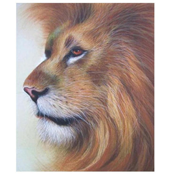 For Beginners Lion Pattern Diy 5d Full Diamond Painting Kits QB5861