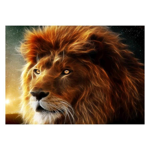 5d Full Diamond Painting Kits Cheap Best Lion  QB5864