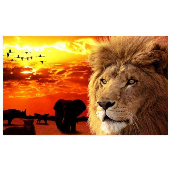 Dream Lion Pattern Diy 5d Full Diamond Painting Kits QB5868