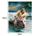 New Style Beauty And Animal 5d Diy Cross Stitch Diamond Painting Kits QB6206
