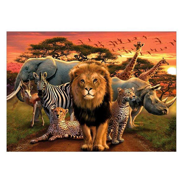 5d Full Diamond Painting Kits New Best Special Safari Wildlife  QB6209