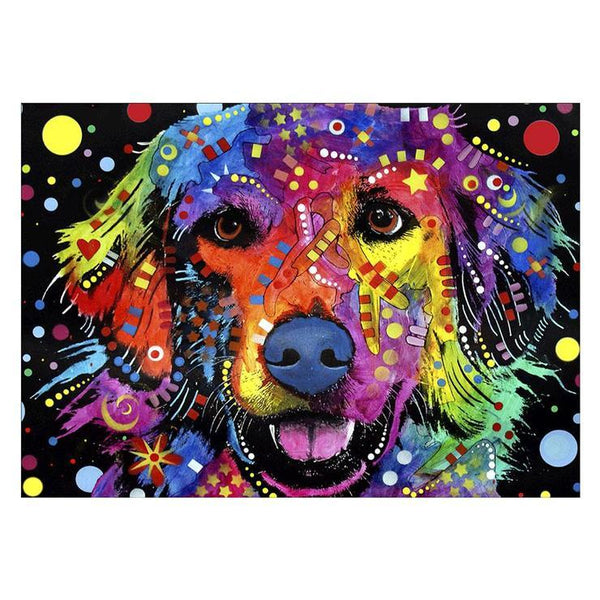 2019 5d DIY Diamond Painting Kits Colorful Dog QB54324