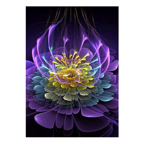 5d Full Diamond Painting Kits Best Special Style Lotus Flower  QB9572