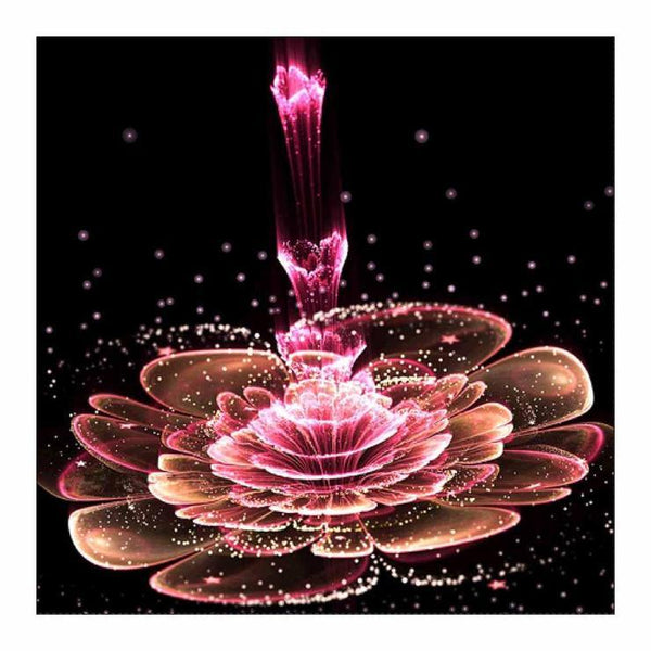New Special Style Lotus Flower Diy 5d Full Diamond Painting Kits QB5724
