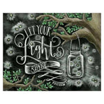 5D Diamond Painting Kits A Whole Latte Love Blackboard  AF9045