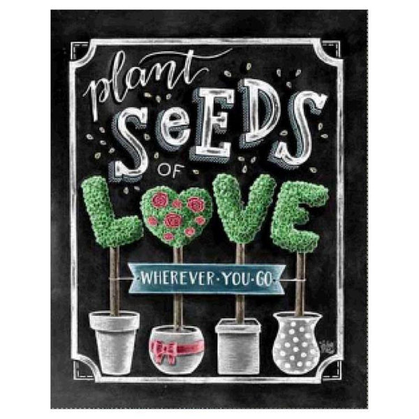 5d Diy Diamond Painting Plant Seeds Blackboard AF9046