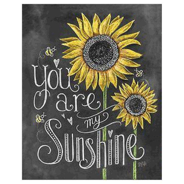 5d Diy Diamond Painting Sunflower Blackboard AF9039