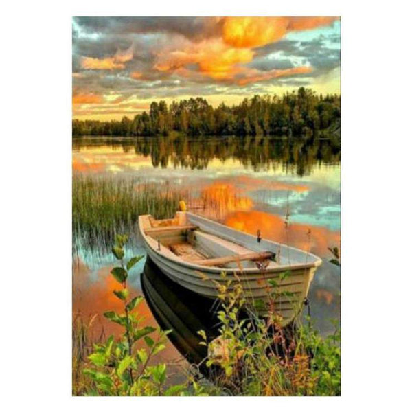 Hot Sale Autumn Series 5d Diy Boats Diamond Painting Kits AF9013