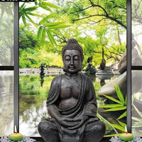 Cheap 2019 New Hot Sale Buddha In Window 5D DIY  Square Diamond Painting VM3101 (1766984220762)