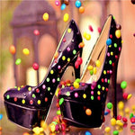 5D DIY  Diamond Painting Kits Special Candy Shoes Icon  NB0094