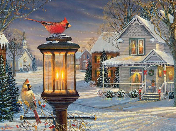 5D Diy Diamond Painting Kits Cross Stitch Cardinals In Winter  VM90577