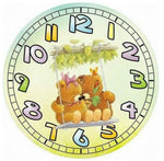 5D DIY Diamond Painting Kits Cartoon Bear Clock NB0156