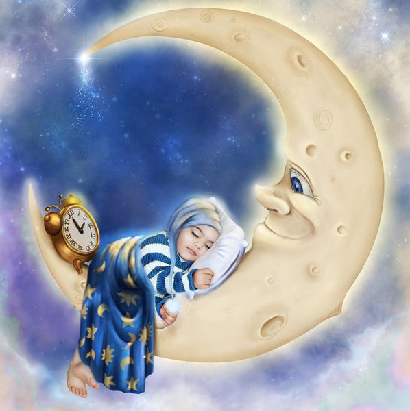 5D DIY Diamond Painting Kits Cartoon Moon Little Girl VM77090