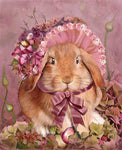 5D Diy Diamond Painting Kits Cross Stitch Rhinestones Cartoon Rabbit VM90779