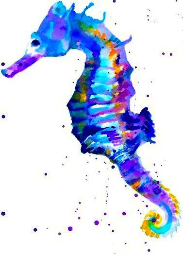5D Diy Diamond Painting Kits Cartoon Seahorse NA10363