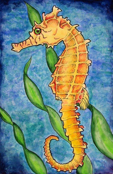 5D Diy Diamond Painting Kits Cartoon Seahorse NA00367