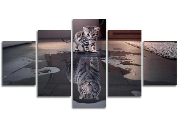2019 5D DIY Diamond Painting Kits Cat Tiger Multi-Picture Embroidery Art  VM90794