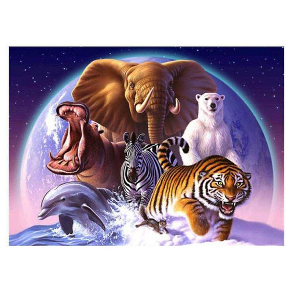 Cheap Cartoon Wild Animal 5d Diy Embroidery Diamond Painting Kits QB08021